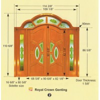 SOLID DECORATIVE DOOR with TEMPERATED GLASS 5