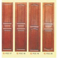 SOLID DECORATIVE DOOR with TEMPERATED GLASS 1